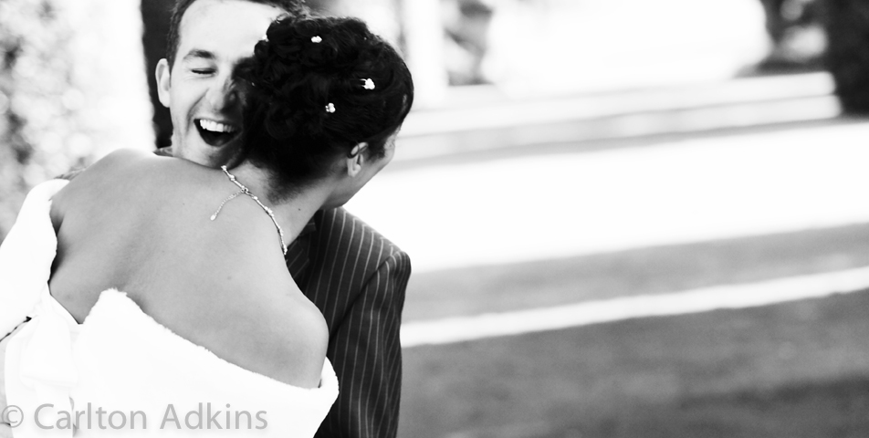 Relaxed and informal wedding photography of the bride and groom in Arley hall Cheshire