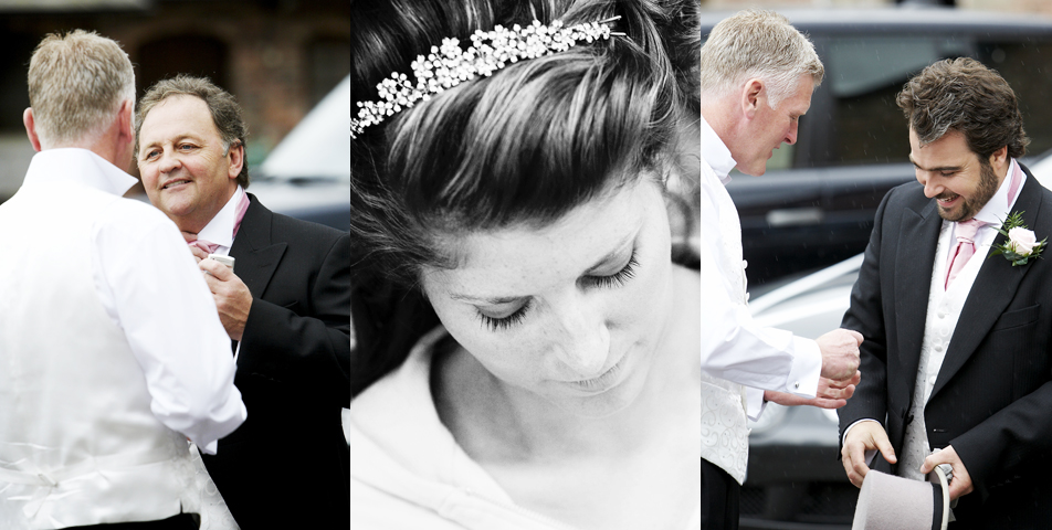 bridal makeup captured by the wedding photographer before the ceremony in Wilmslow Cheshire