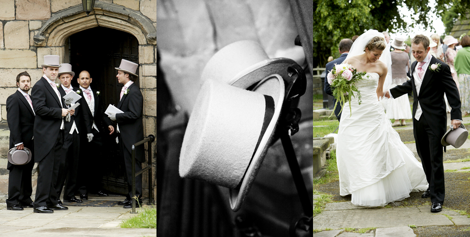 photograph of the wedding in Wilmslow cheshire