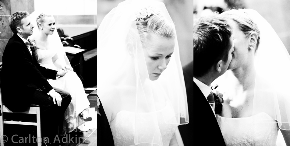 photography of the bride and groom outside the church in chester
