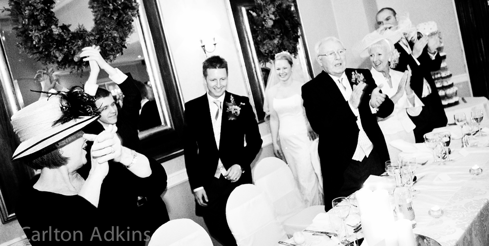 photography of the wedding breakfast in cheshire