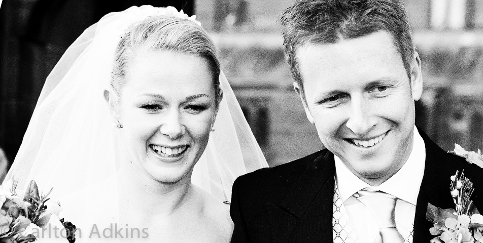 the bride and groom at the wedding venue in chester cheshire