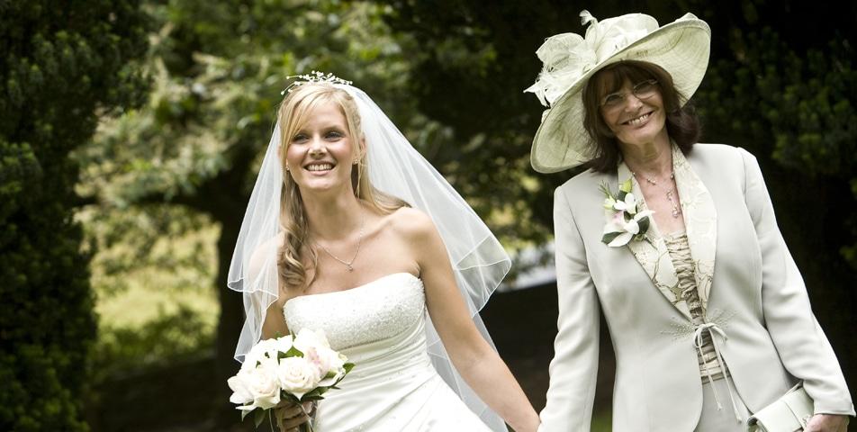 """bride before wedding ceremony in cheshire"""