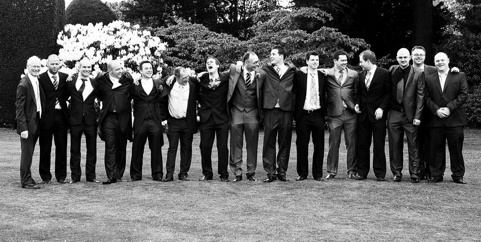 photography of the Bridal Party at Arley hall Cheshire