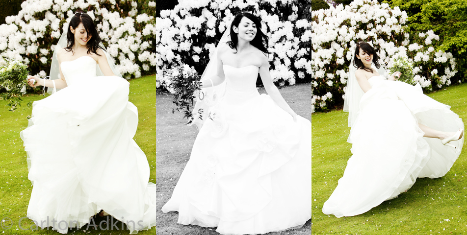 photography of the Brides Wedding Dress in cheshire