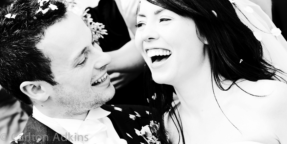 photography of the bride and groom after the wedding at Arley Hall Cheshire