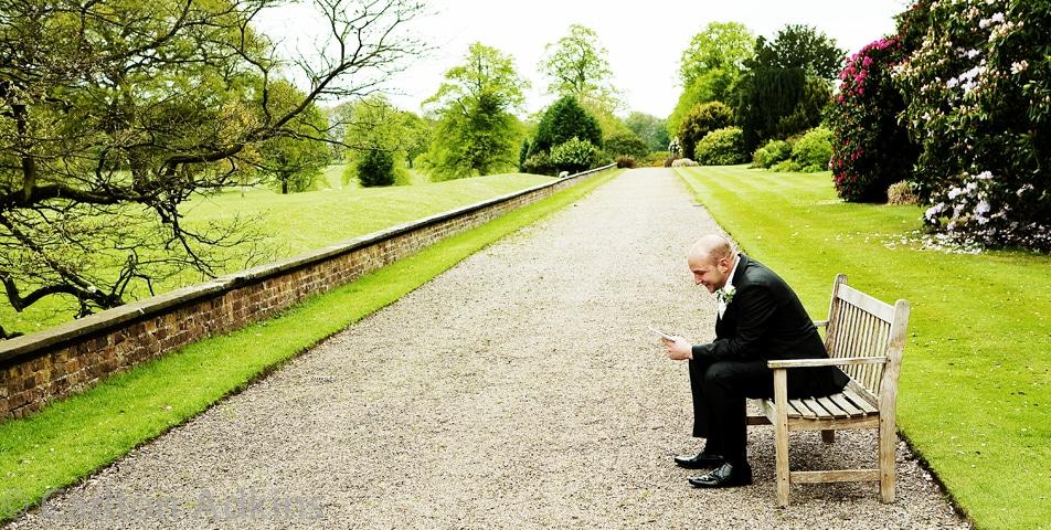 the best Man learning the wedding speech