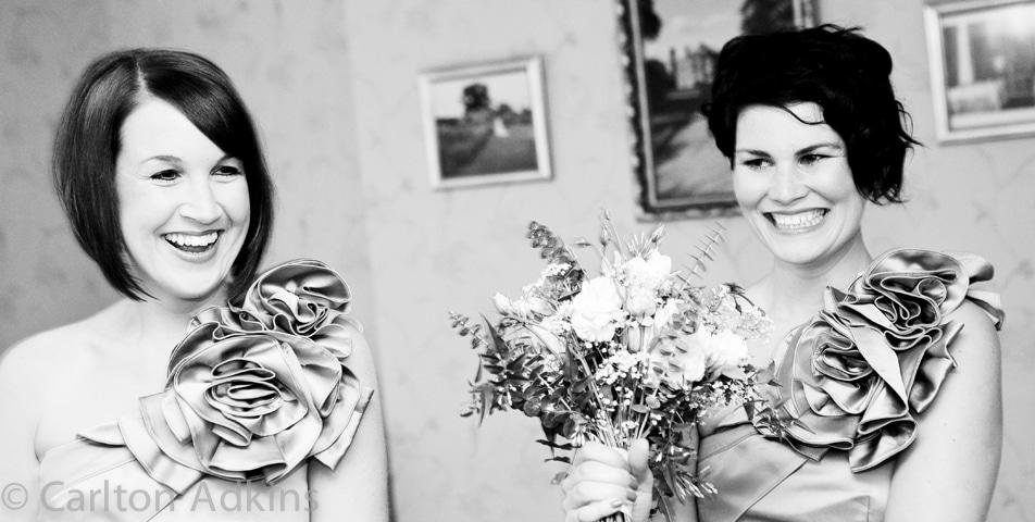the bridesmaids at Arley Hall cheshire