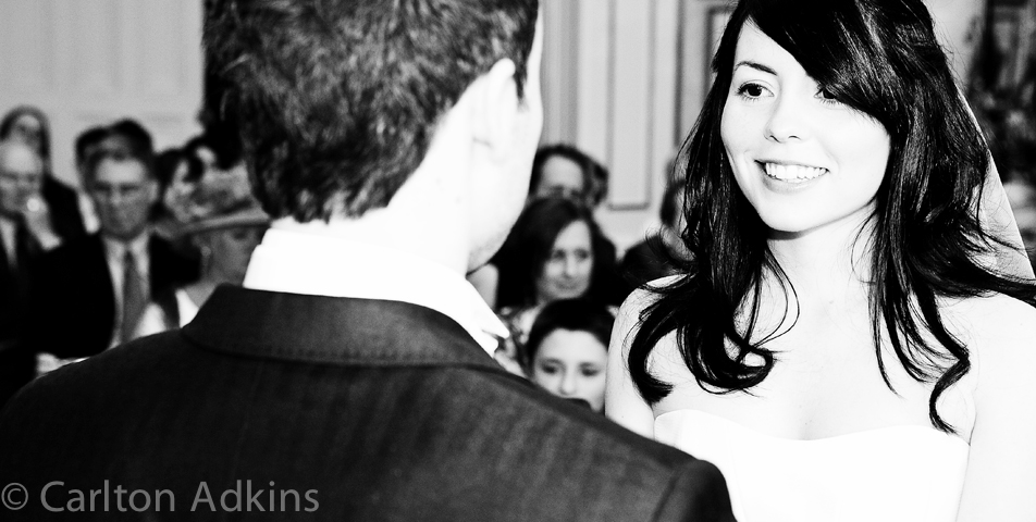 wedding photography of the civil ceremony at Arley Hall cheshire