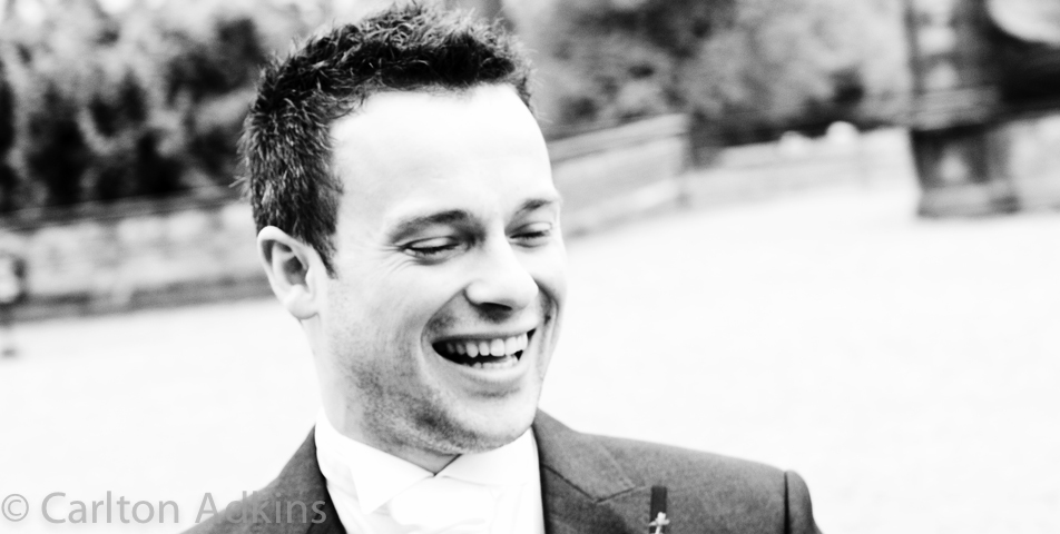 wedding photography of the groom at Arley Hall Cheshire