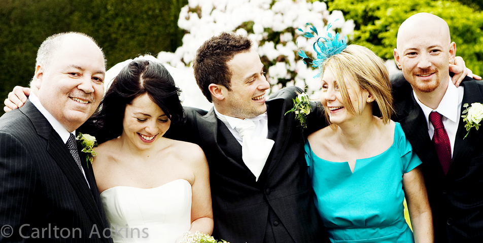 wedding photography of the guests at Arley Hall