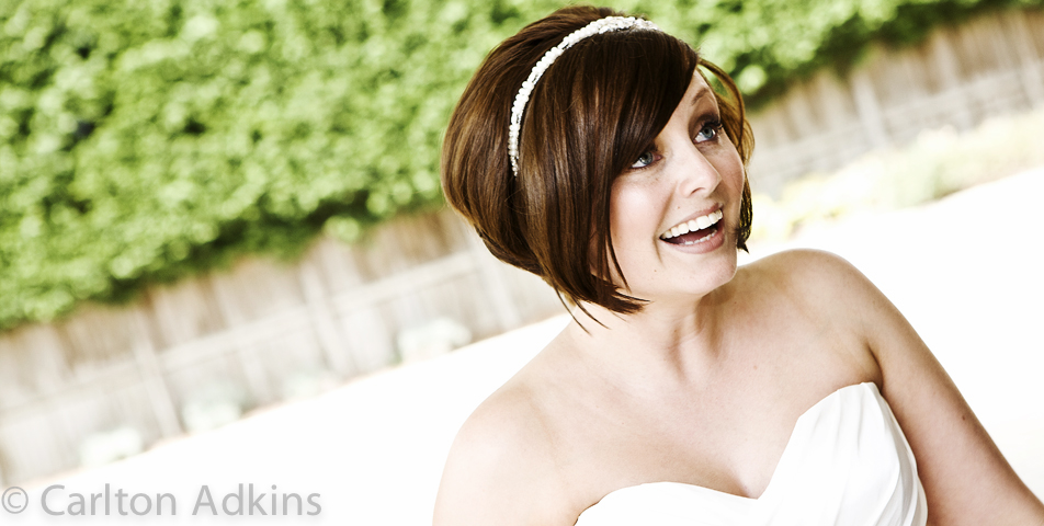 photography of the bride after the wedding ceremony rookery hall cheshire