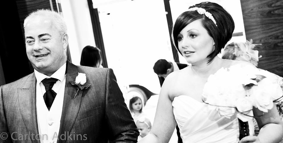 photography of the civil wedding ceremony at rookery hall cheshire