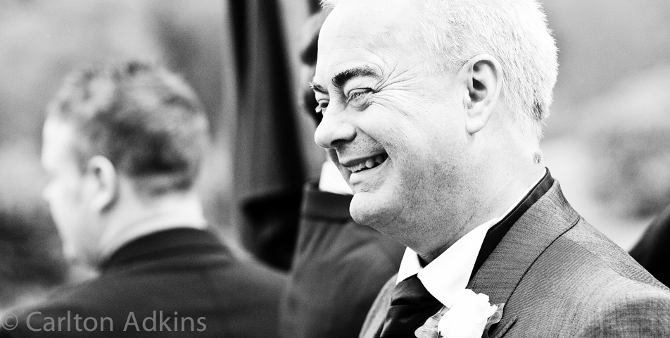 photography of the father of the bride at the cheshire wedding venue