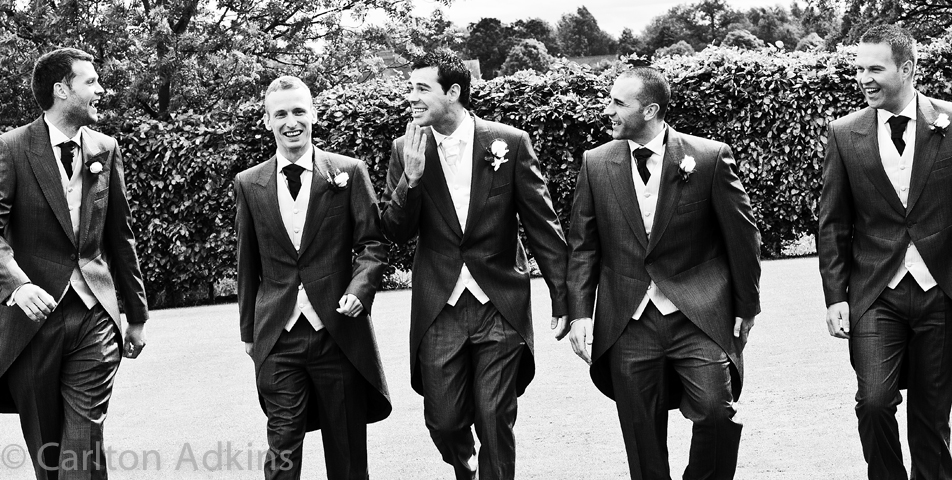 photography of the groom and ushers at rookery hall cheshire