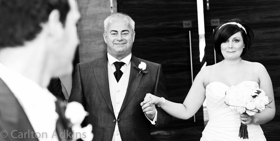 the wedding ceremony captured by the rookery hall wedding photographer