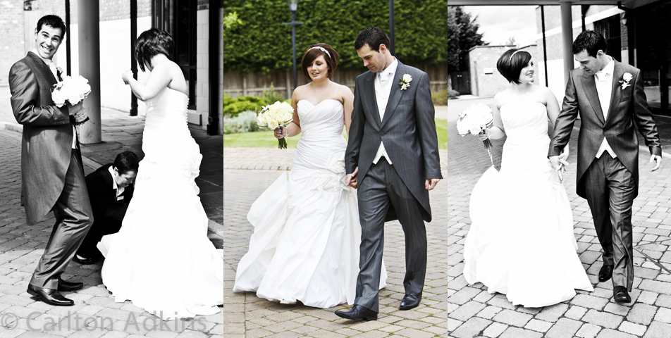 wedding photography after the ceremony at rookery hall cheshire
