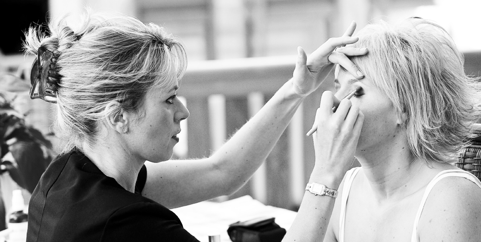 """Reportage style wedding photography of bride getting ready in Derbyshire"""