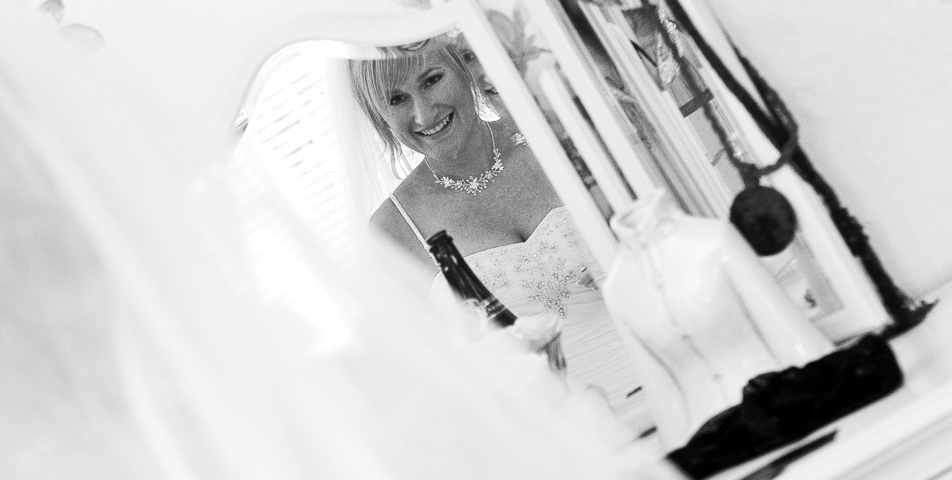 """""""reportage photography of the bride getting ready on her wedding day in derbyshire"""""""