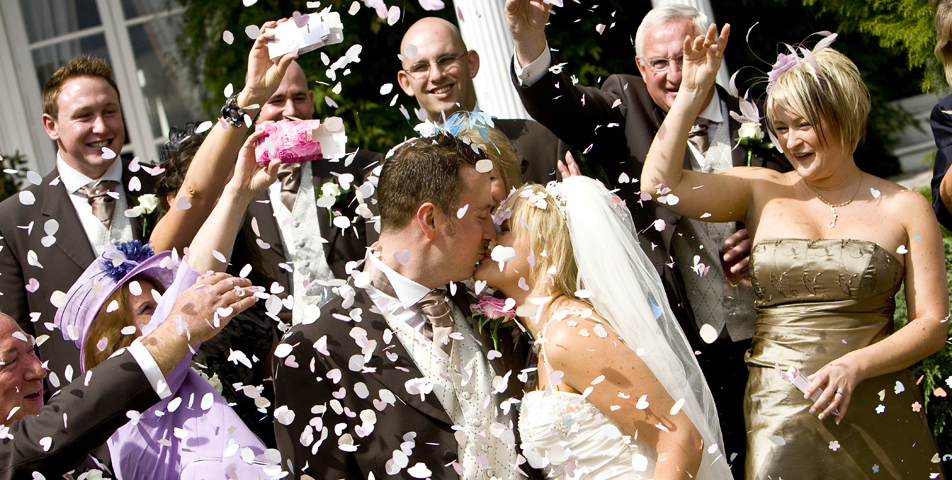 """confetti shot by wedding photographer derbyshire"""