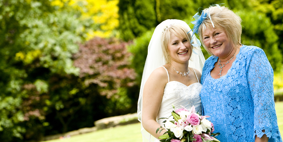 """bride and mother of the bride at wedding venue the ringwood hall hotel chesterfield derbyshire"""