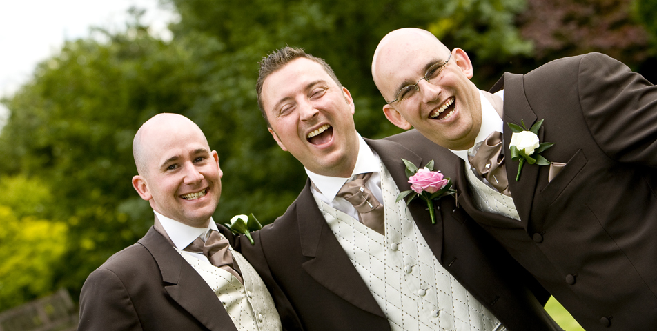 """groom and best man after the wedding ceremony Ringwood Hotel derbyshire"""