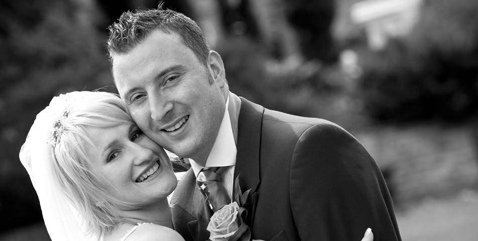 """""""wedding photography of bride and groom at ringwood hall hotel derbyshire"""""""