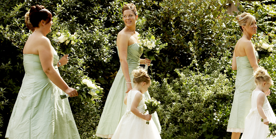 """wedding photography of the bridesmaids before the wedding ceremony Leicestershire"""