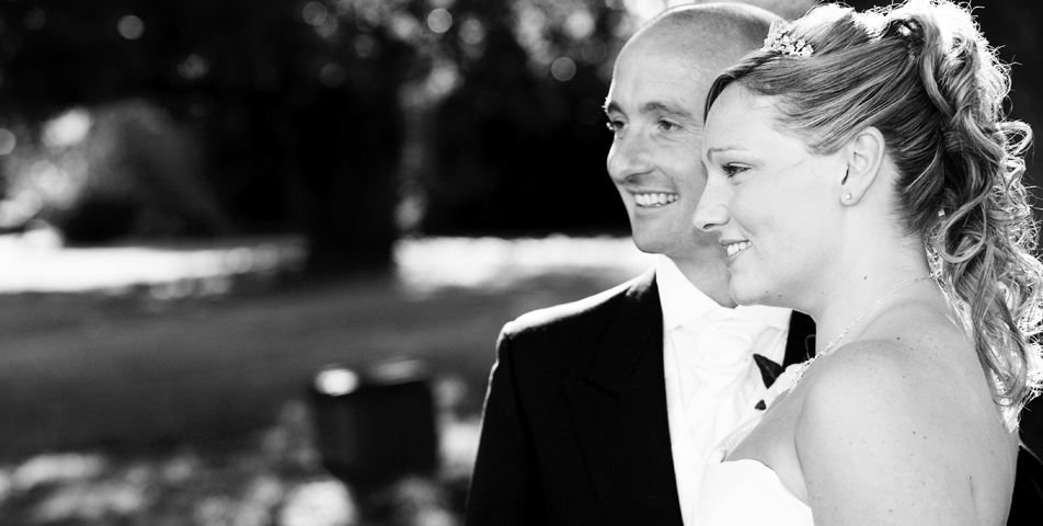 """photography of bride and groom after wedding ceremony in Leicestershire"""