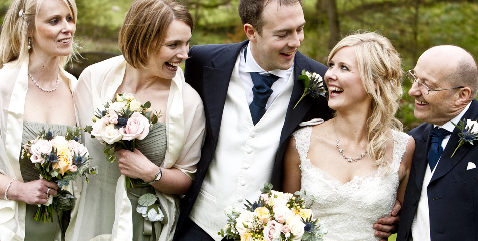 """""""relaxed and informal wedding photography of the wedding party"""""""