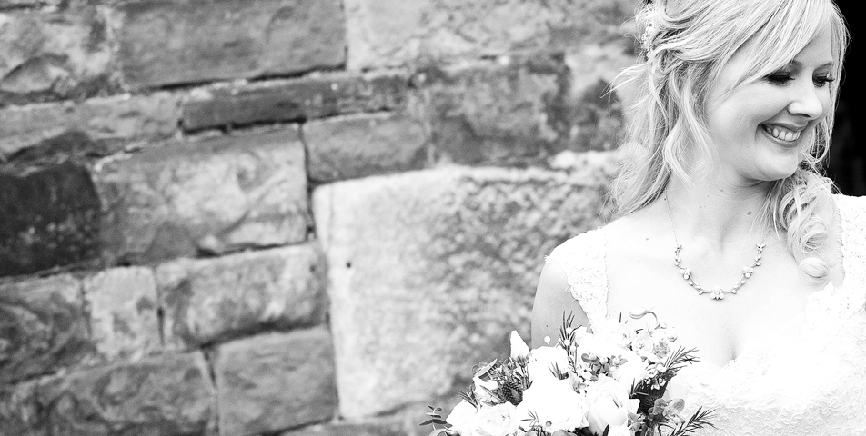 """black and white photography of bride"""