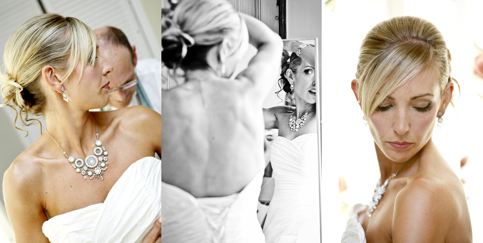 Photography of the bridal wedding make up