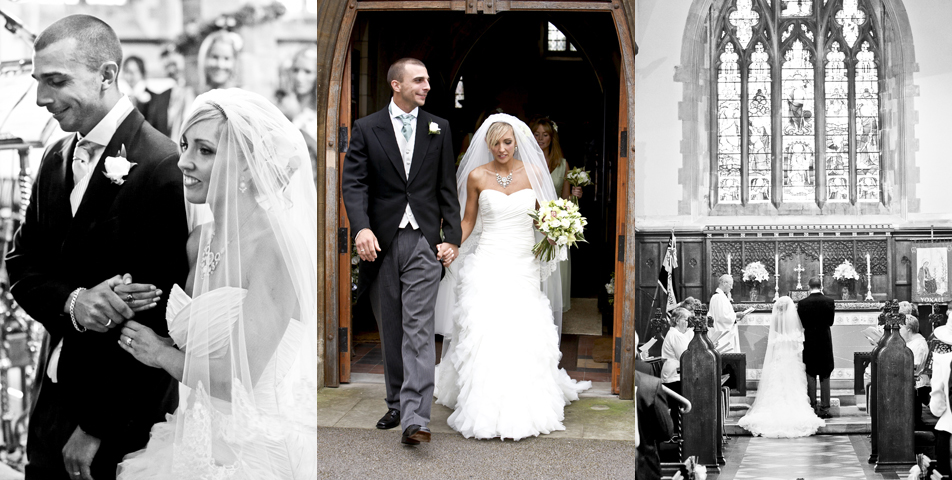 Reportage wedding photography of the ceremony in Staffordshire