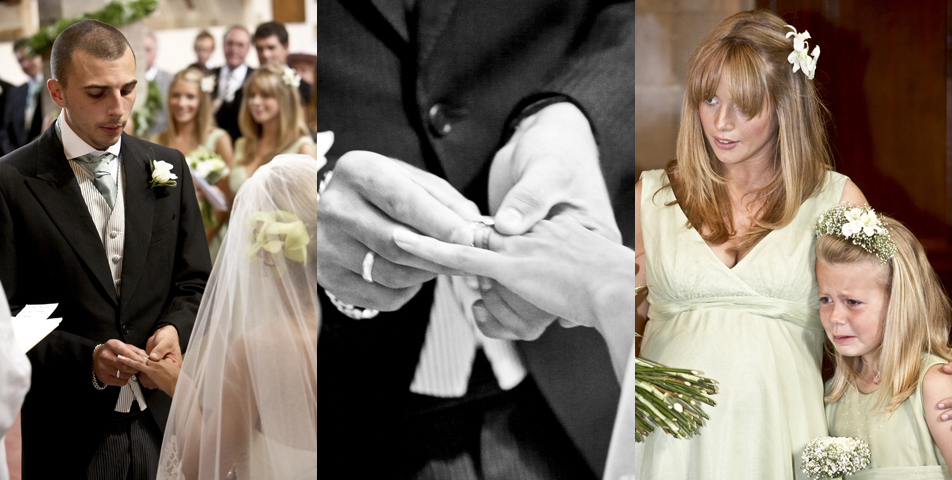 Exchanging of the rings and the wedding vows