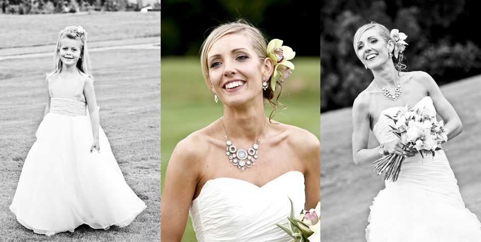 Wedding photography of the bride in her designer wedding dress at Rolleston Hall Staffordshire""