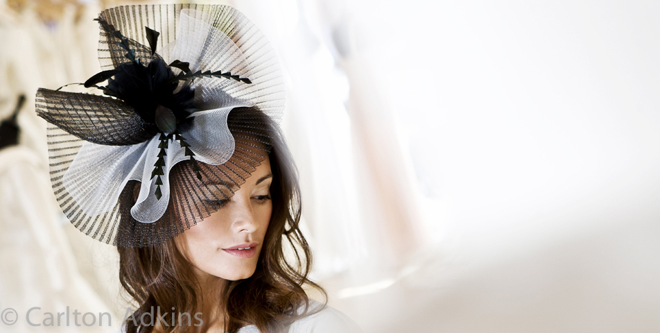 Fashion photography of wedding fascinators