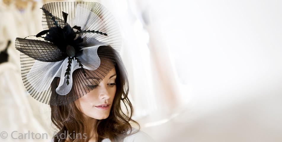 Fashion photography of wedding fascinators