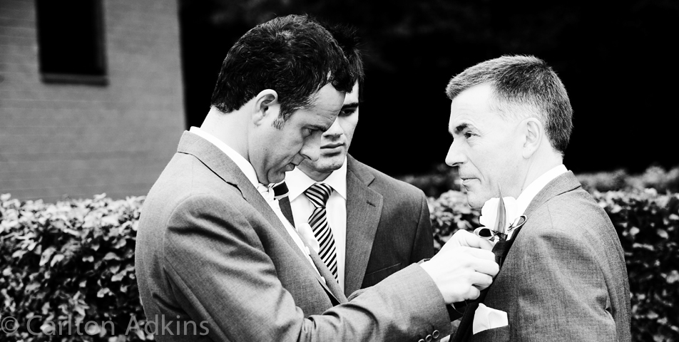 photography of the groom and best man befor the wedding ceremony in knutsford