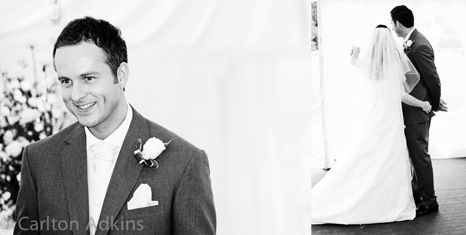 photography of the grooms wedding speech in cheshire