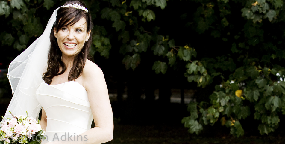 relaxed and informal wedding photography of the bride in knutsford cheshire