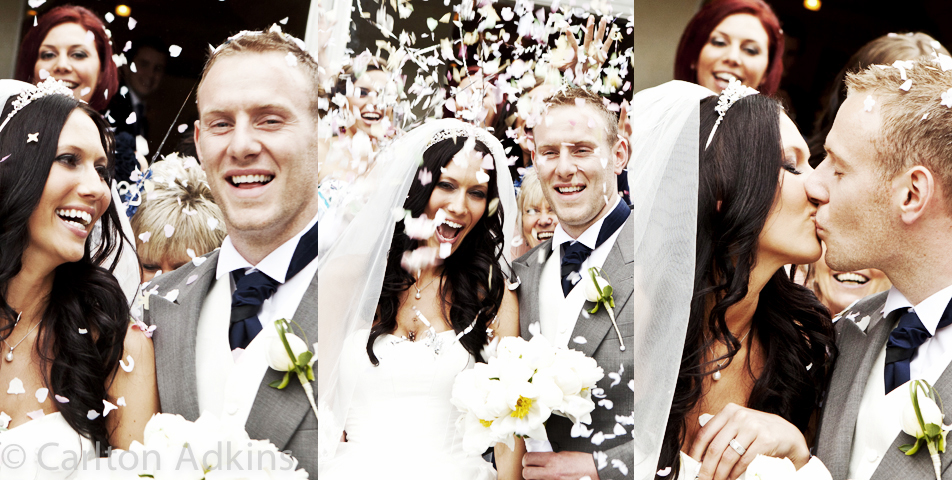 photography of confetti at mottram hall