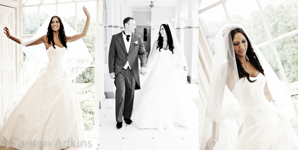 photography of the wedding dress at mottram hall cheshire