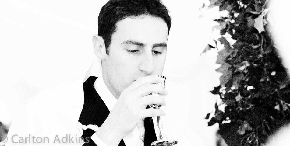 groom at storrs hall wedding venue Lake District