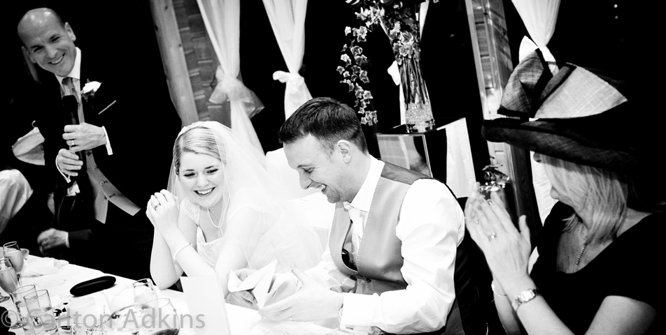 photography of the wedding speeches