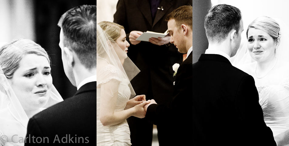 photography of the wedding vows in the cheshire
