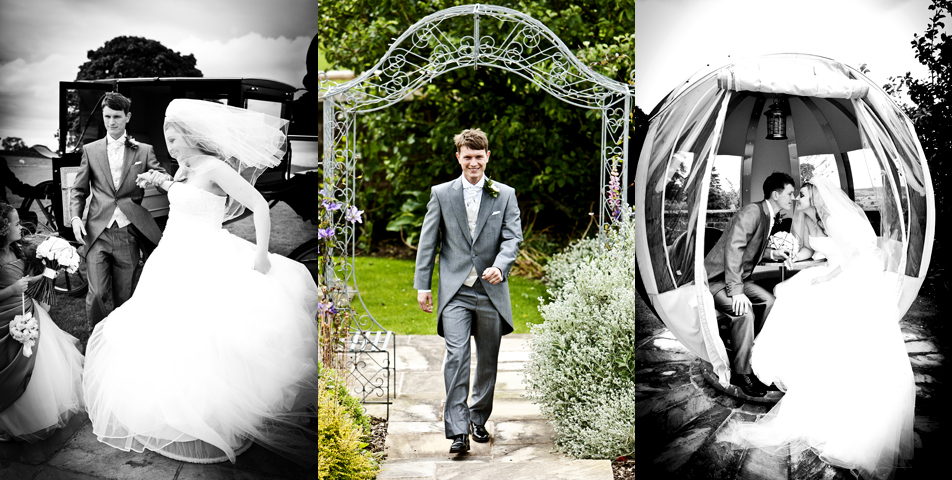 the bride and groom at heaton house cheshire