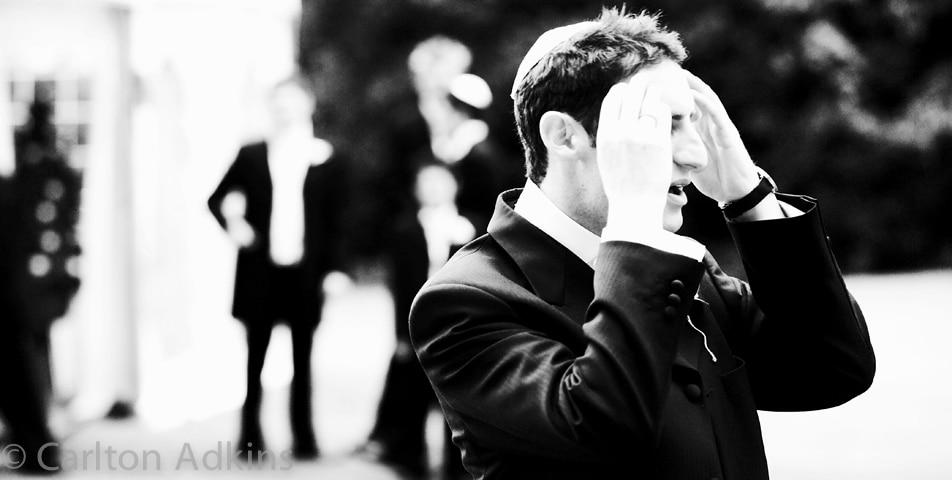 the groom before the jewish wedding ceremony
