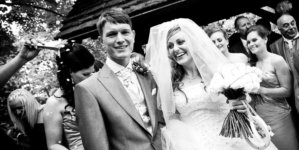 the wedding ceremony at Gawsorth church