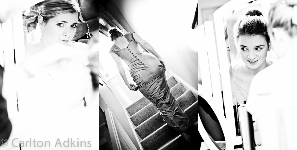 wedding photography of the bride