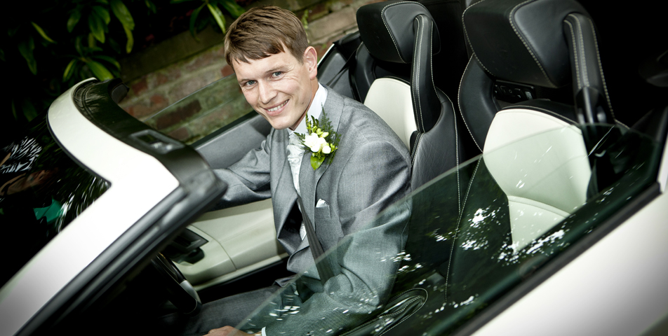wedding photography of the groom in cheshire